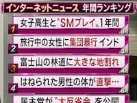 "ANN 2013年 インターネットニュース年間ランキング 第1位は「女子高生と""SMプレイ""1年間」"