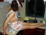 裸エプロン ヌード画像 14