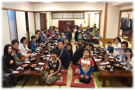 2013-04-08 親子ゲーム会 お食事タイム