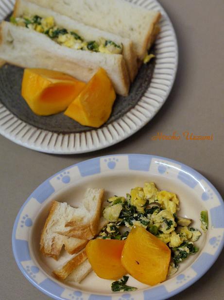 小松菜のスクランブルエッグ