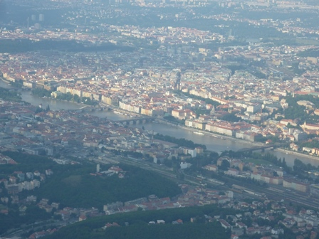 空から見たプラハ