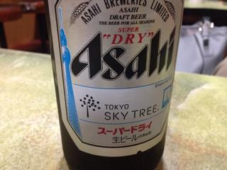 ビールのロゴがスカイツリー