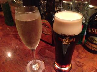 スパークリングビールと黒生