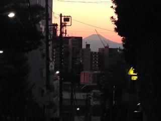 都心からの富士山