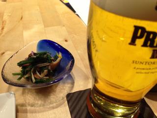 先付とビール