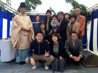 矢田野町・N邸地鎮祭