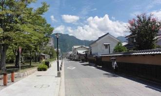 長野市松代のせいせいとした街並み