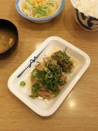 松屋、ネギ塩チキングリル定食(2013年5月23日(月)10時~)。2
