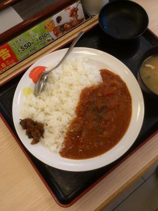 松屋、トマトカレー(並)2