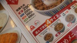 なか卯、和風牛丼ミニ3