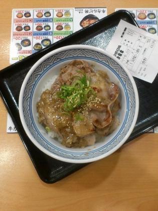 ねぎ塩ロース豚丼、吉野家1