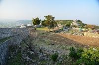 一の郭 城壁解体作業中