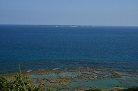 知念岬から見た久高島