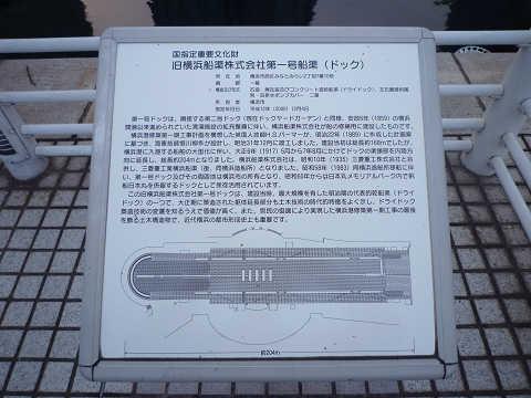 旧横浜船渠第1号ドック説明碑