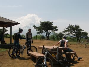 富士山も少し…