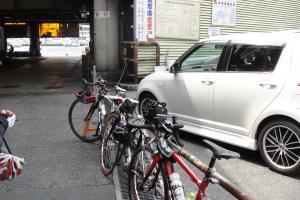 並べて駐輪