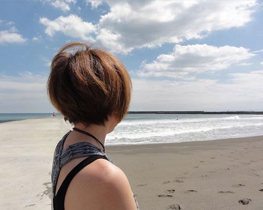 海辺にて2