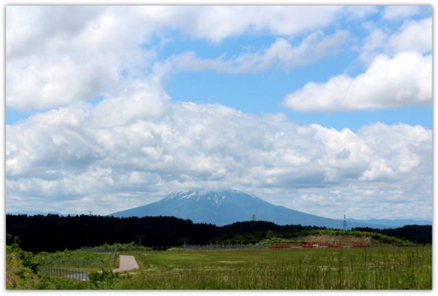 今日の岩木山 青森空港