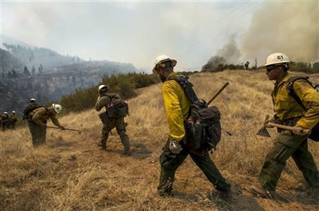 ヨセミテ国立公園の火災