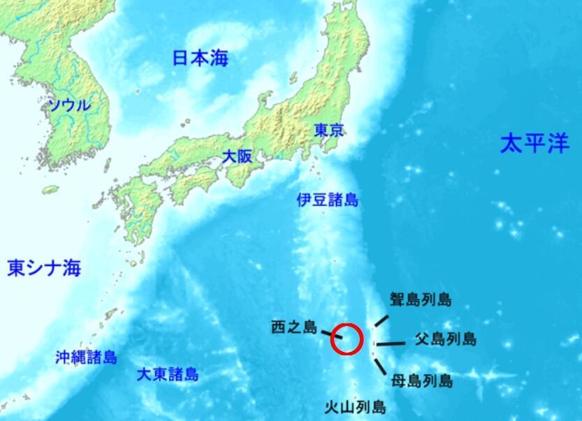 小笠原諸島の「西之島」