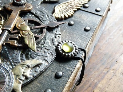 Steampunk Book type keepsake box