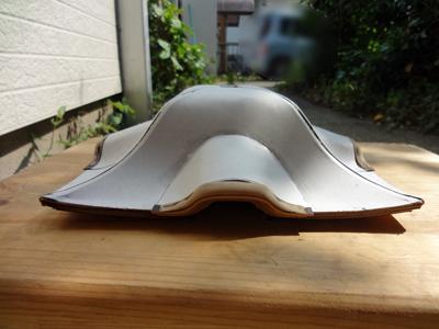 神輿模型 唐破風屋根 屋根板貼