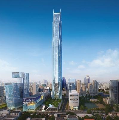 ラマ9世駅前の125階の高層ビル スーパータワー