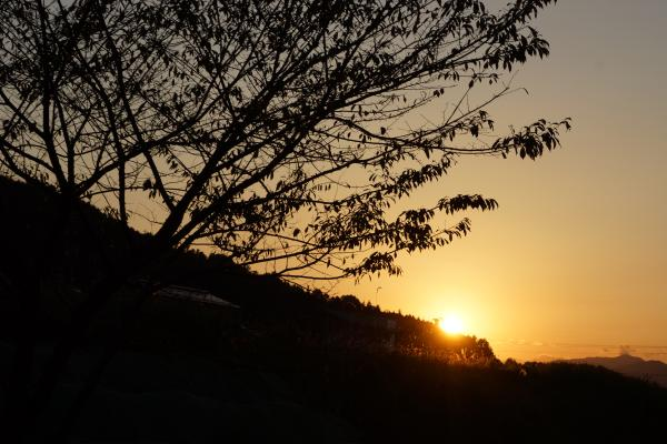 飛騨の夕日