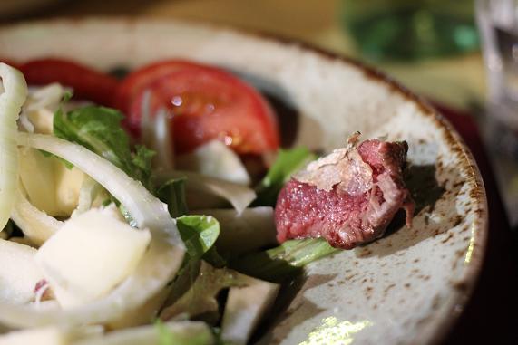 insalata con bistecca tarutufo