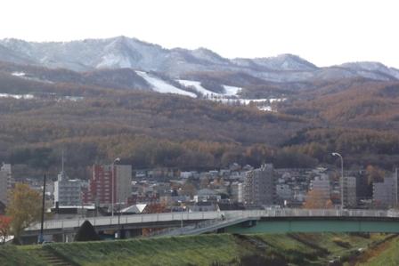手稲山は真っ白