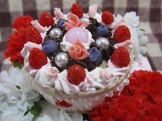 花とホールケーキ2