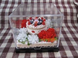 花とホールケーキ3