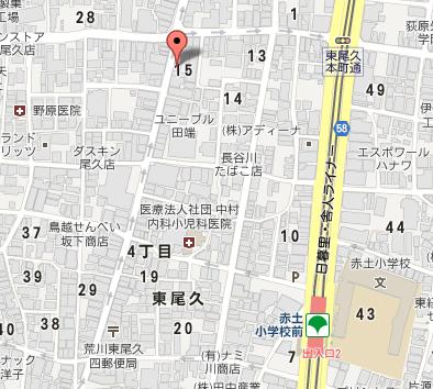 尾久三河屋 地図