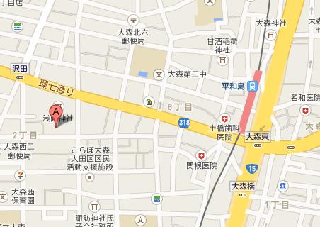 勇吉丸 地図