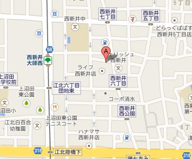 三祐製菓地図