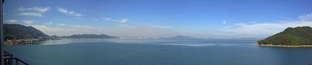 鞆の海@ホテルの窓から