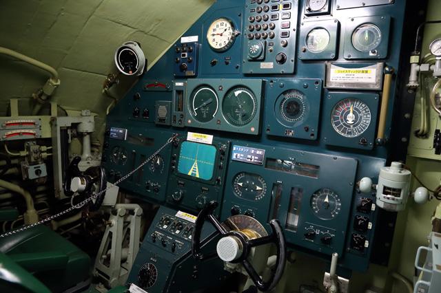 潜水艦あきしおの操舵室