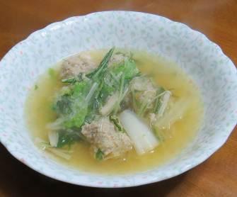 ハクサイ入りスープ