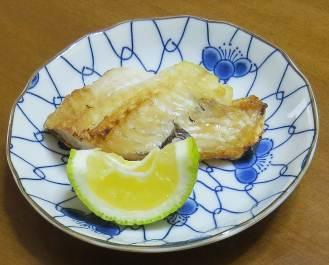 焼き魚とカボス