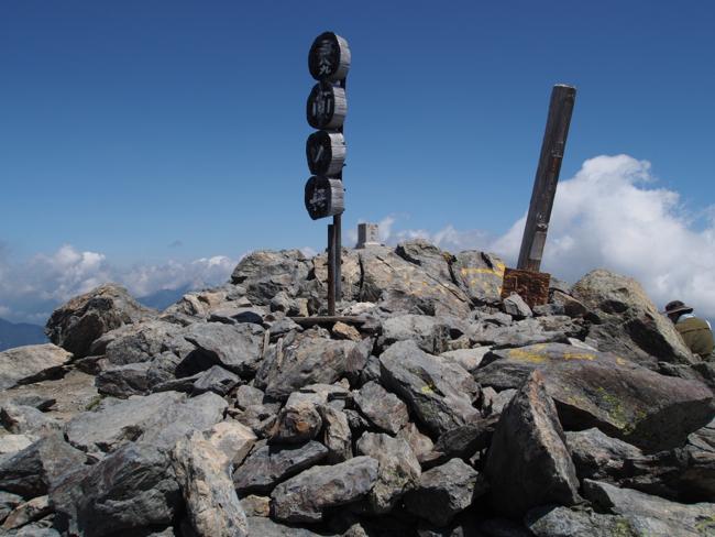 間ノ岳山頂
