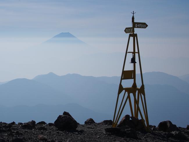 富士と道標