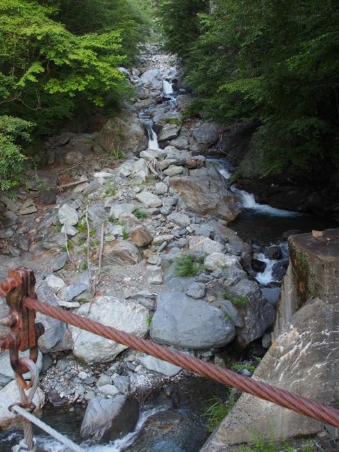 吊り橋より
