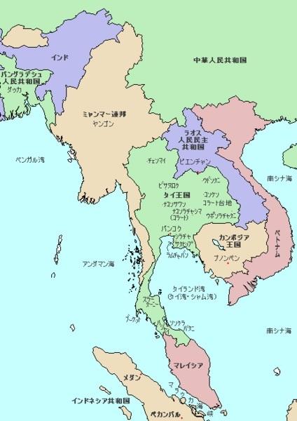 2014-2-11インドシナ半島地図(現在)