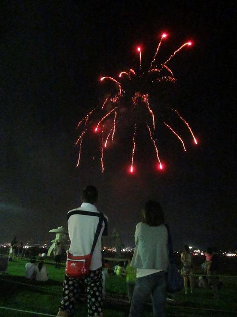 20130813諏訪湖花火 山下夫妻 (2)