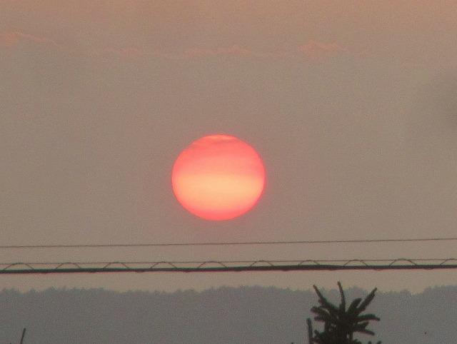 20130813真っ赤な夕陽 (5)