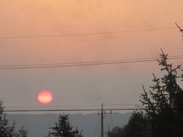 20130813真っ赤な夕陽 (6)