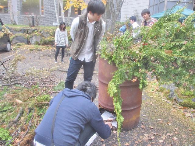 20131109バレー部薪作り (3)