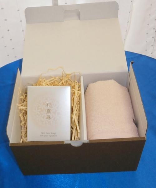花真珠石鹸と今治タオルのセット