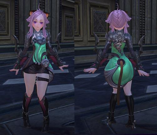 翠魔石の服