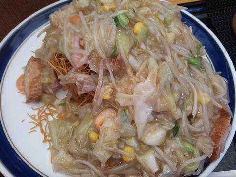 リンガーハットの野菜たっぷり皿うどん (5)